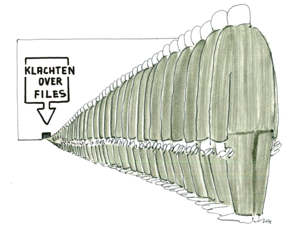 ZAK cartoon klachten over files carpoolen is beter